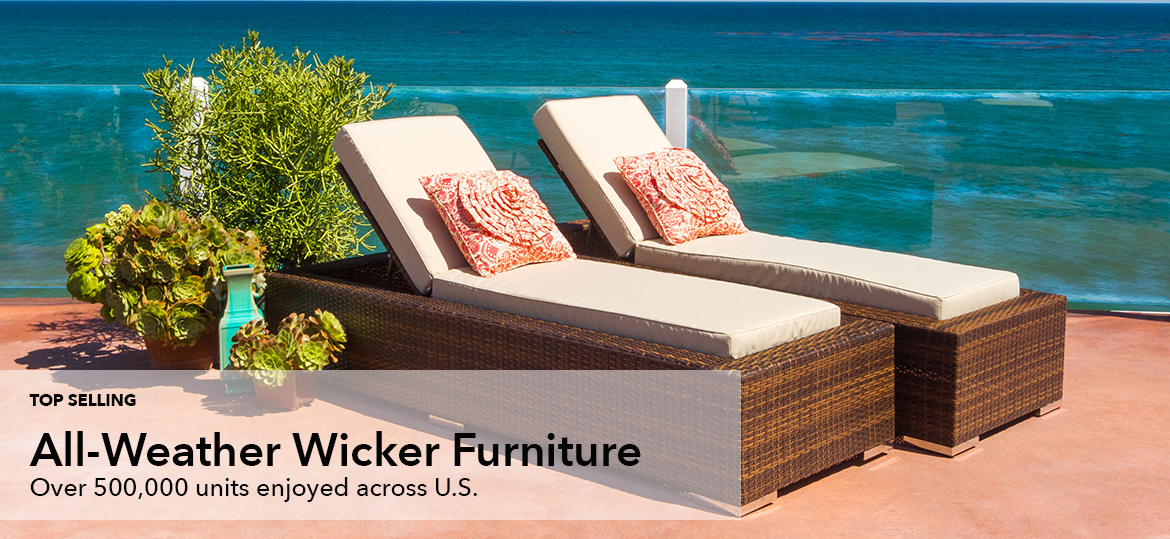 Ohana Furniture All Weather Patio Wicker